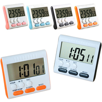 New Fashion Multi Color Kitchen Cooking Timer Large LCD Digital Magnetic Alarm Count Clock