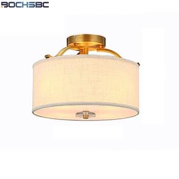 Bochsbc 패브릭 전등 갓 천장 조명 현대 간단한 천으로 led 램프 다이닝 룸 거실 침실 실내 조명 lampara