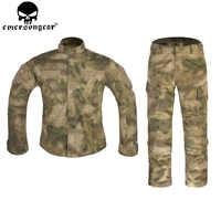 EMERSONGEAR-uniforme táctico del ejército BDU, camisa de combate, pantalones de camuflaje militar, ropa de caza, Atfg EM6923