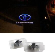 Door Light Car Ghost LED Courtesy Welcome Logo Light Lamp Shadow Projector For Toyota Land Cruiser Prado Reiz Camry Highlander