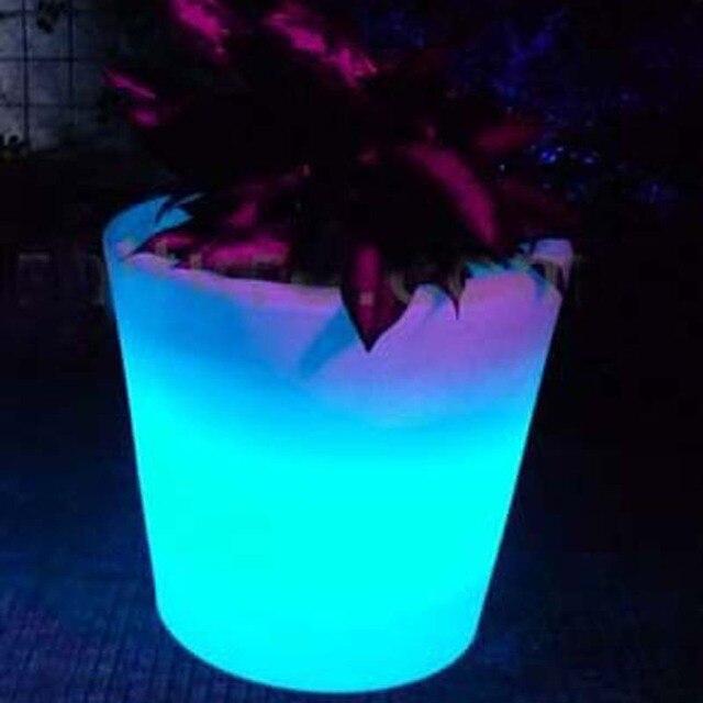 led planter lichten tuin solar led pot lichten bloemenvaas verlichte potten landschap verlichting voor christas nieuwjaar