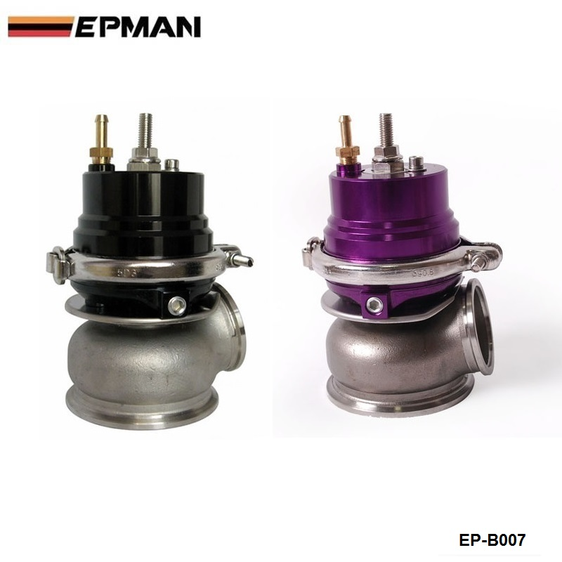 купить ( Black,Purple) Turbo V-band 60mm External Waste Gate Bypass Exhaust Manifold + Spring EP-B007 по цене 3943.86 рублей