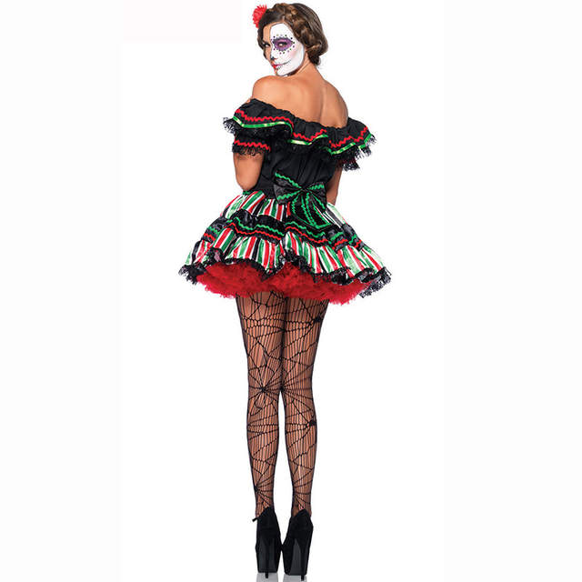 a1338b27817bc US $23.31 50% OFF|Adult Vampire Skull Zombie Cosplay Clothing Deguisement  Halloween Costumes For Women Carnival Costume Sexy Fancy Dress Plus Size-in  ...
