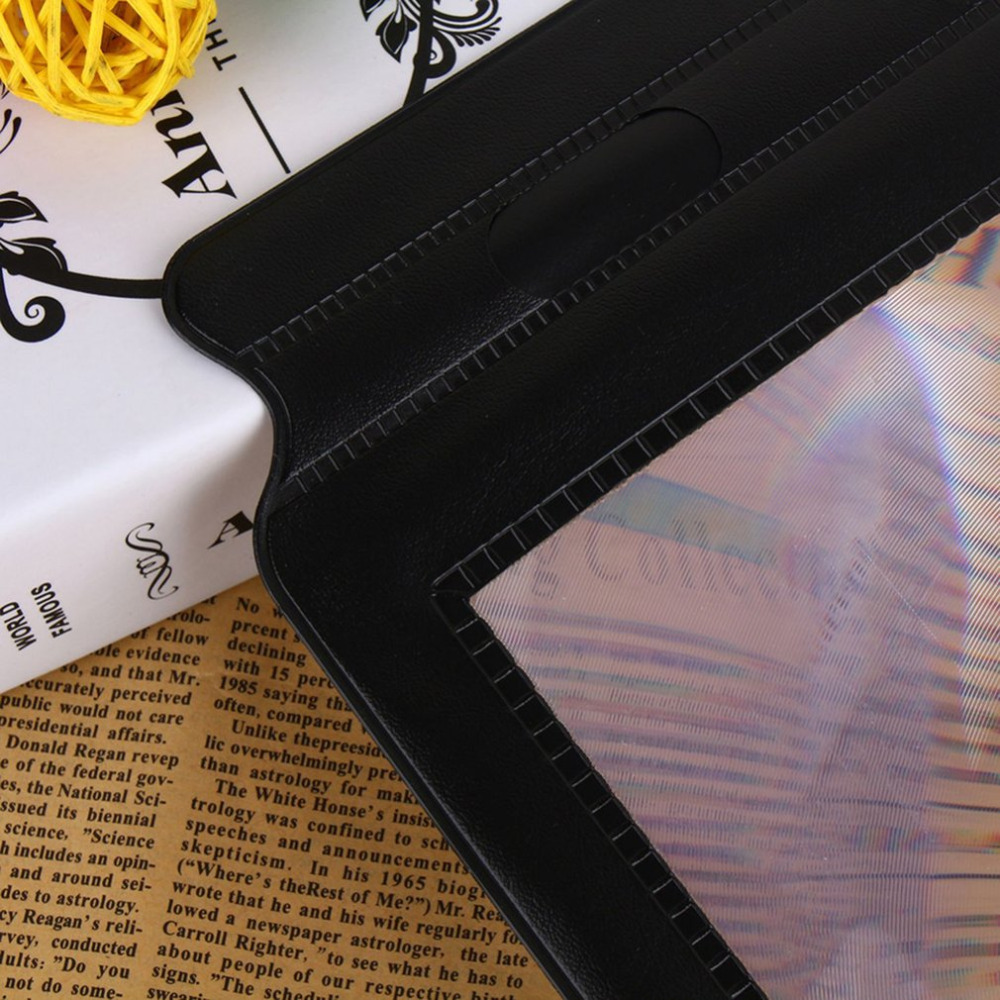 Portable Size Handheld 3X Large Reading Magnifier A4 Full Page Sheet Maps Books Newspaper Reading Aid Magnifying Glass