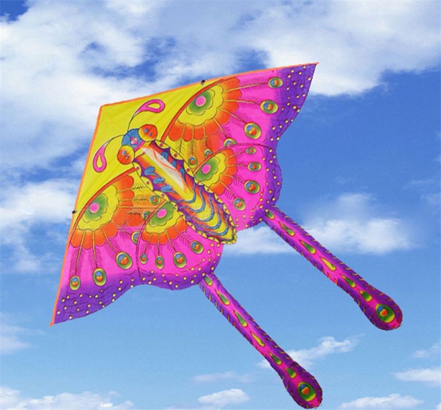 1PCS 50 Cm Color Butterfly Kite Hot Medium Traditional Color Butterfly Styles Foldable Kite Outdoor Recreation Products For Kids