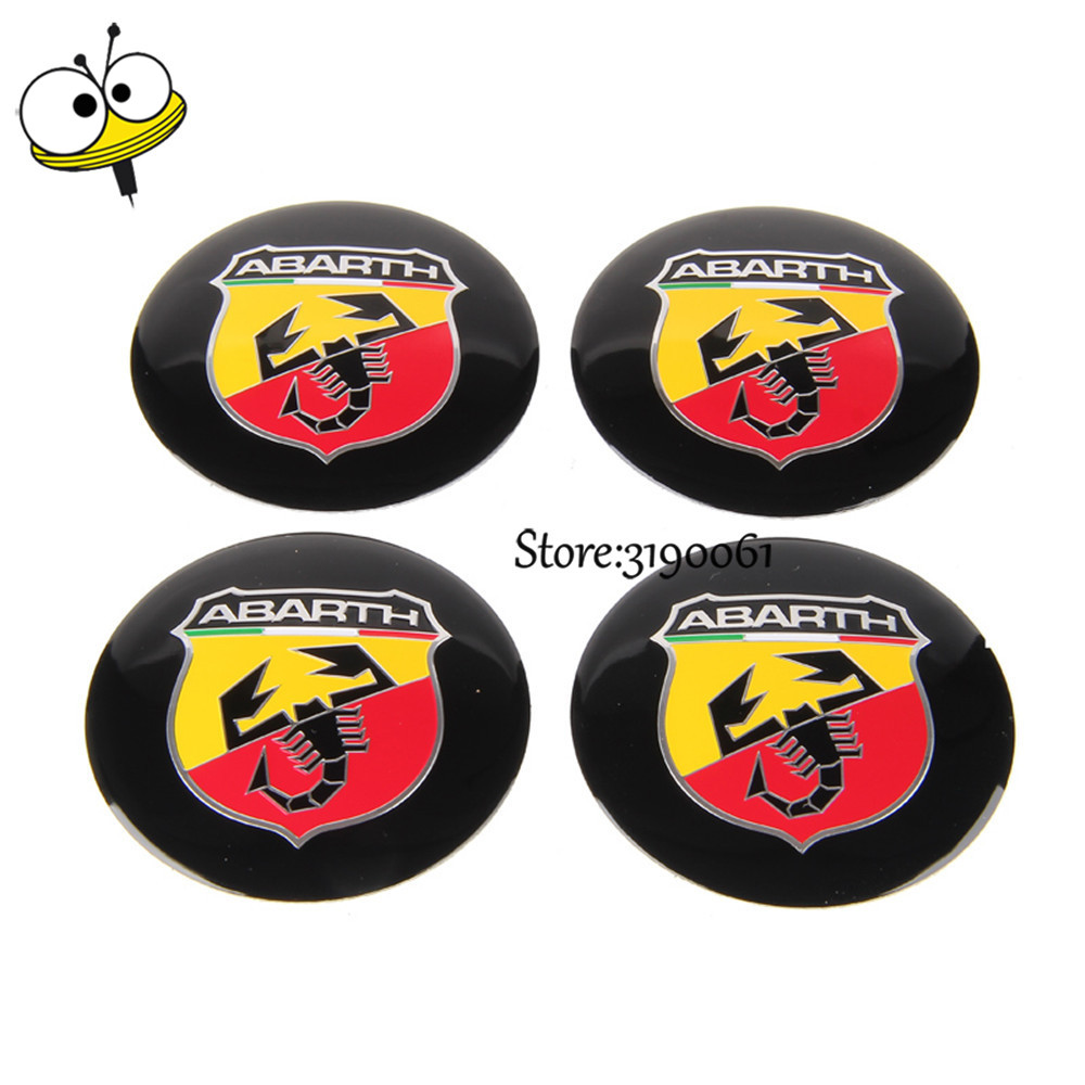 Auto Decoration Car Styling Wheel Center Hub Caps Car Emblem For Abarth Logo For Fiat 500 Abarth 124 595 695 131 Punto 204 1000 for fiat punto fiat 500 stilo panda small hole ventilate wear resistance pu leather front