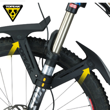 TOPEAK 26 27.5 29 inch MTB mudguard bicycle front rear wing for fat bike bicycle mud guard mountain bike fender