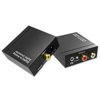 Aikexin Coaxia Óptico Digital a Analógico RCA Audio Converter Digital con 3.5mm Jack, 192 KHz 24-bit DAC con fuente de Alimentación
