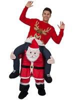 Novelty Christmas men Ride on Me Animal Funny Fancy Dress Unisex Mascot Costume Up Party Fancy Festival Santa Claus costume