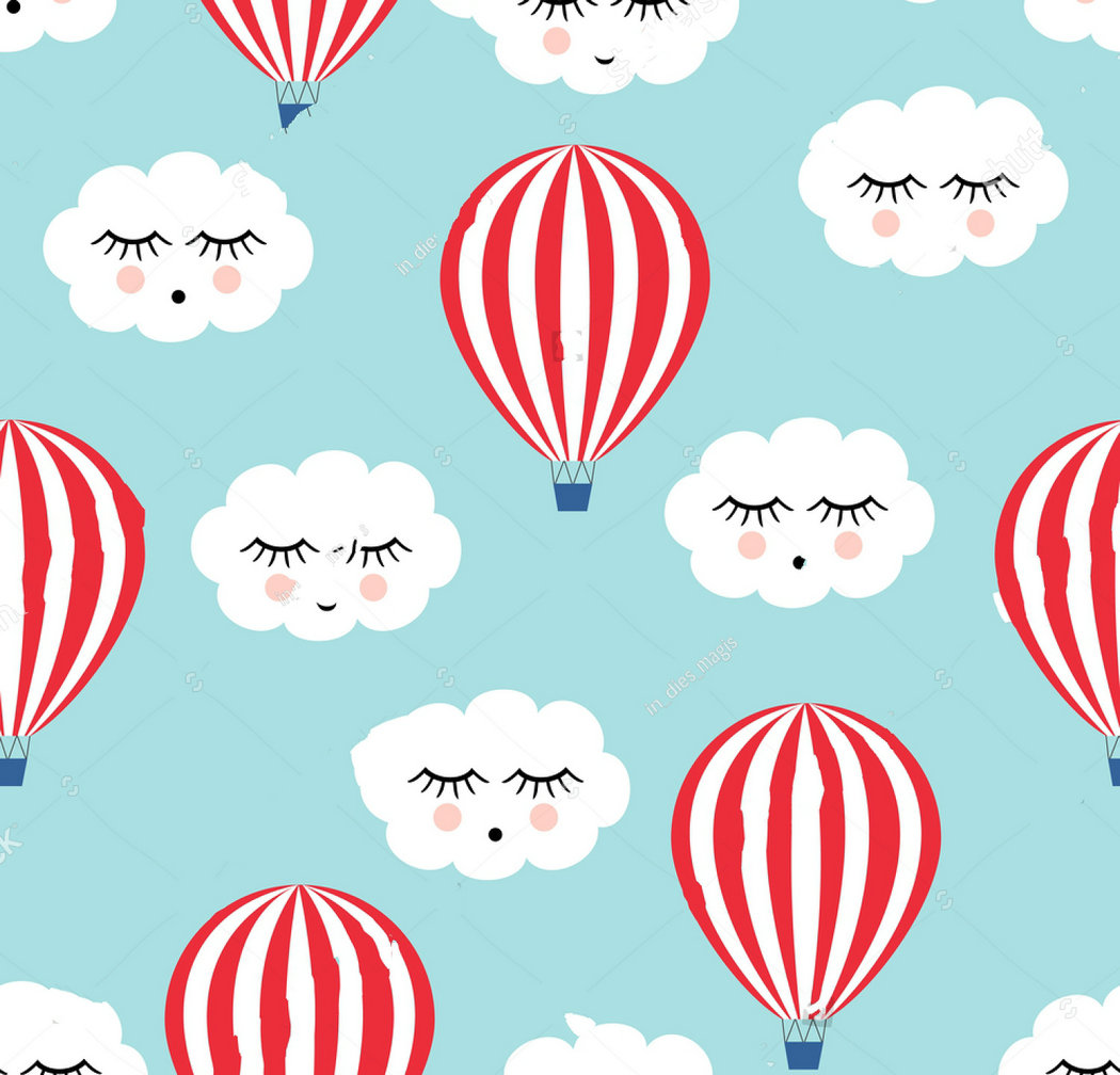 happy cloud hot air balloons Cute baby shower photo backdrop Vinyl cloth High quality Computer print wall background