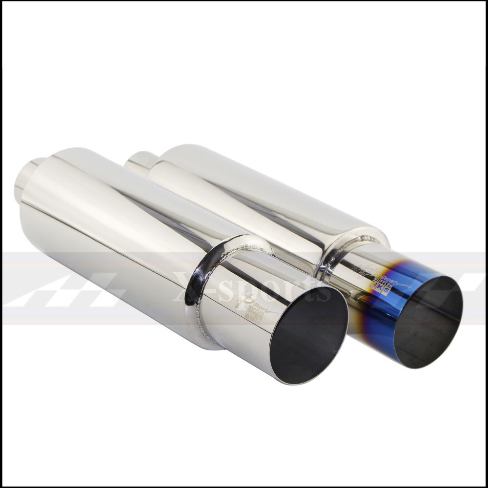 Car Motorcycle Exhaust Muffler Tail Pipe High Quality Universal Stainless Steel 304 Interface 63mm 76mm Outlet 101mm Mufflers in Mufflers from Automobiles Motorcycles