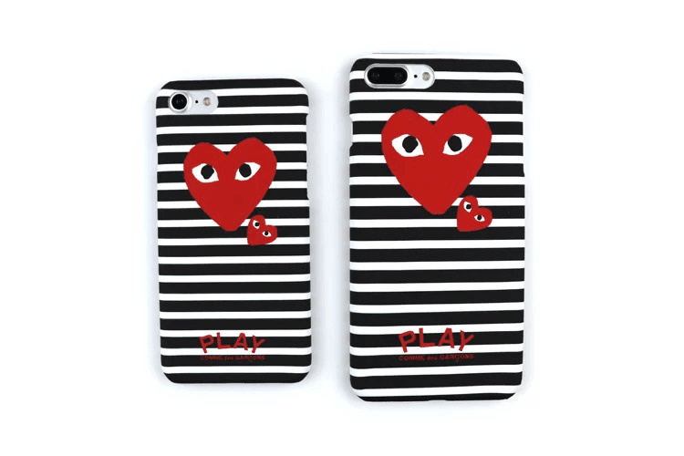 d6b990c432bbb9 Fashion Trend CDG PLAY Comme des Garcons eyes Fluorescence Hard PC Phone  Case cover For iPhone 7 6 6Plus 6s 7Plus 6s Plus-in Half-wrapped Case from  ...