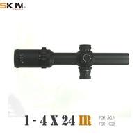 Free shipping SKWoptics 1 4x24 Hunting Rifle scope M4 AR15 sight Long Eye Relief 30mm tactics Riflescopes