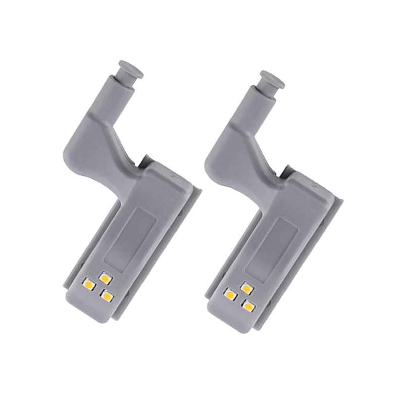 Universal Inner Hinge LED Sensor Lamp Kitchen Cabinet Wardrobe Cupboard Door 3 LED Night Light With Motion Sensor Auto ON/OFF