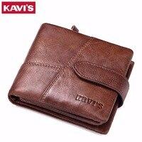 KAVIS Luxury Brand Genuine Leather Women Wallet Female Lady Small Walet Portomonee For Girls Mini Pocket