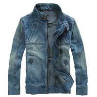 Chaqueta de Hombre Chaqueta de mezclilla de Streetwear Chaqueta Hombre Veste Homme Jaqueta Jeans ropa de abrigo de vaquero Casual Modis
