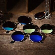 Круглые поляризованные солнцезащитные очки для мужчин и женщин, солнцезащитные очки для женщин, металлическая оправа, черные линзы, очки для вождения автомобиля, спорта на открытом воздухе, ретро классика