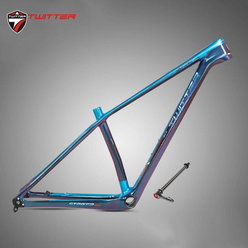 Twitter Strikerpro Discolored Thru-axle Mtb Carbon Frame Gravel Bike Carbon Mtb Frame 29er 27.5er Mountain Bicycle Frames