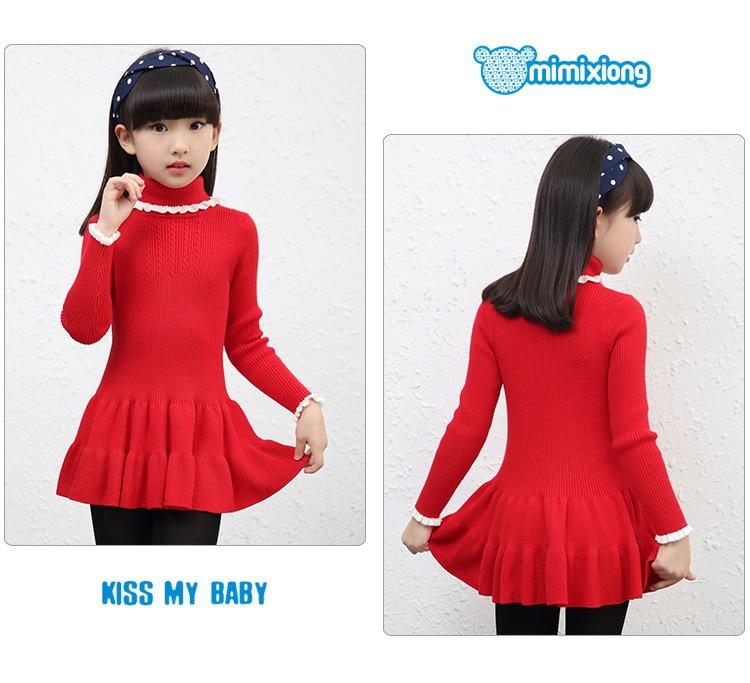 Girls Knit Sweater Dress Pink Turtlenecks Toddler Infant Pleated ...