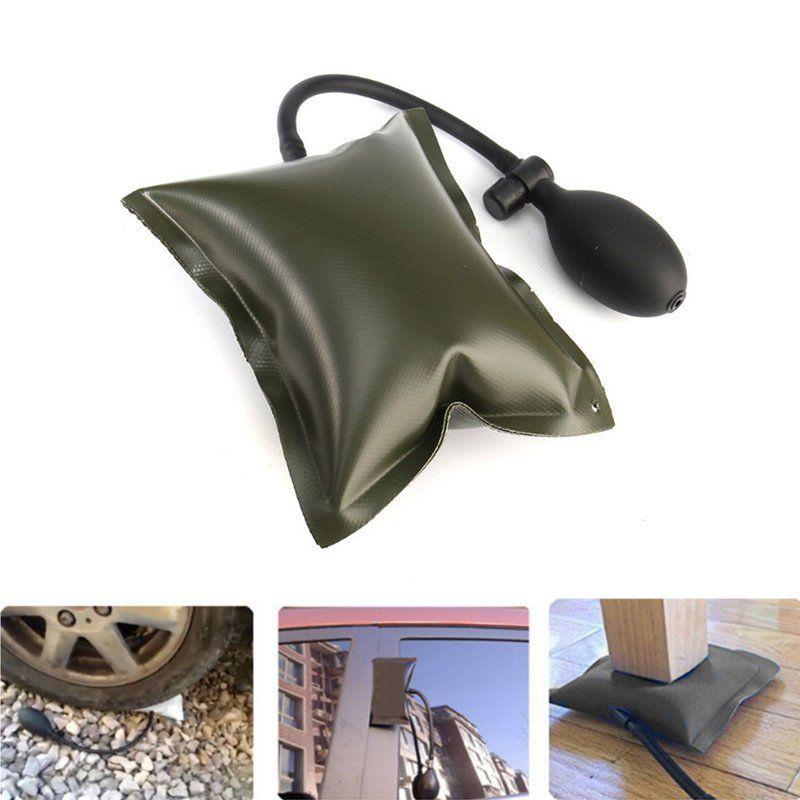 Air  Pump Up Bag For Car Door Window Frame Fitting Install Shim Black RH