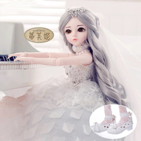Fantasy Barbie doll 60 joint dressup Barbie SD doll pretty girl gift simulation princess doll toys