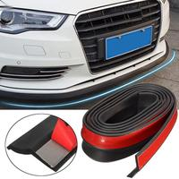 KAKUDER New Fashion 2 5M Universal Carbon Fiber Front Bumper Lip Splitter Chin Spoiler Body Trim