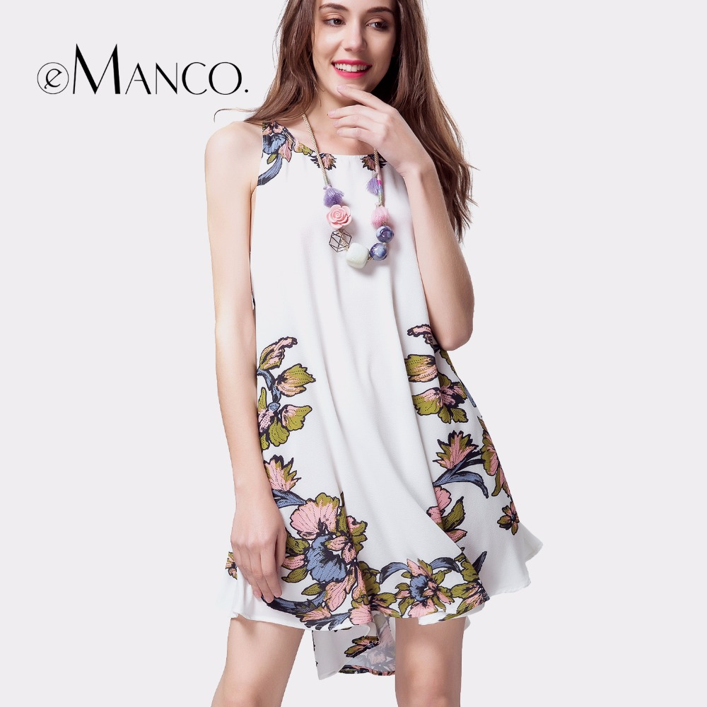e Manco Floral Beach Boho White Sexy dress Novelty Backless Strap hollow out Irregular Print Mini Dress women dress summer-in Dresses from Womens Clothing on Aliexpresscom  Alibaba Group