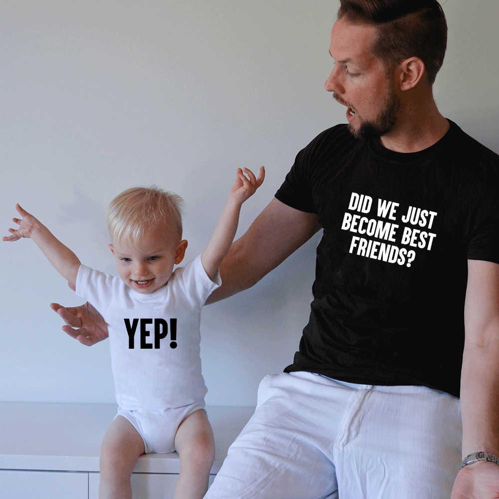 ¿Nos hemos convertido en mejores amigos papá y bebé camisa a juego papá y bebé camisas mejor amigo camisas para papá y bebé