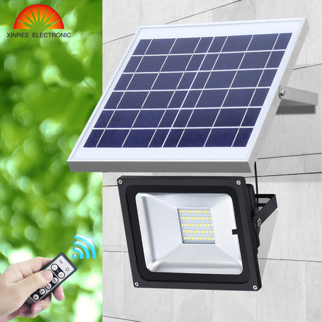 10w 20 Led Outdoor Solar Light Billboard Football Field Park Garage Emergency Ir Remote Control
