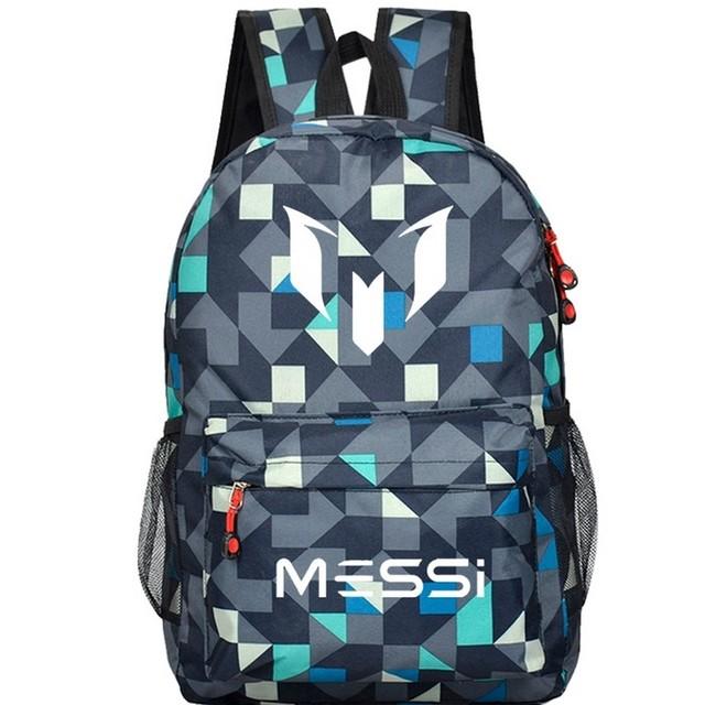 Adolescentes mochila escolar bolsa Logotipo Messi Mochila Saco Footbal homens Meninos Presente Crianças Bagpack Mochila Bolsas de Viagem Escolar