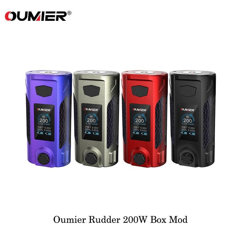 Electronic Cigarettes Oumier Rudder 200W Box Mod Powered By Dual 18650 Batteries Fit 510 Thread RTA RDA RDTA Vape Vaporizer Kit