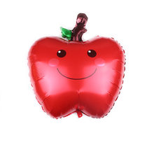 Red Apple Balloons Hawii Theme Flamingo Pineapple Foil Balloon Birthday Decoration Kids Adult Party Beach Party Helium Globos(China)