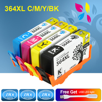 4pcs Remanufactured For HP 364XL Ink Cartridges High Capacity For HP PhotoSmart 7510 7515 7520 7525