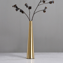 Nordic Style Geometric Metal Golden Vase Simple Desktop Furnishings Crafts Home Decoration Accessories Ornaments Vases 27