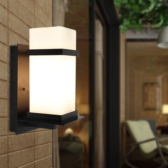 fashion outdoor wall lamp aluminum waterproof brief garden lights balcony indoor and outdoor wall lamp - Indoor Garden Lights