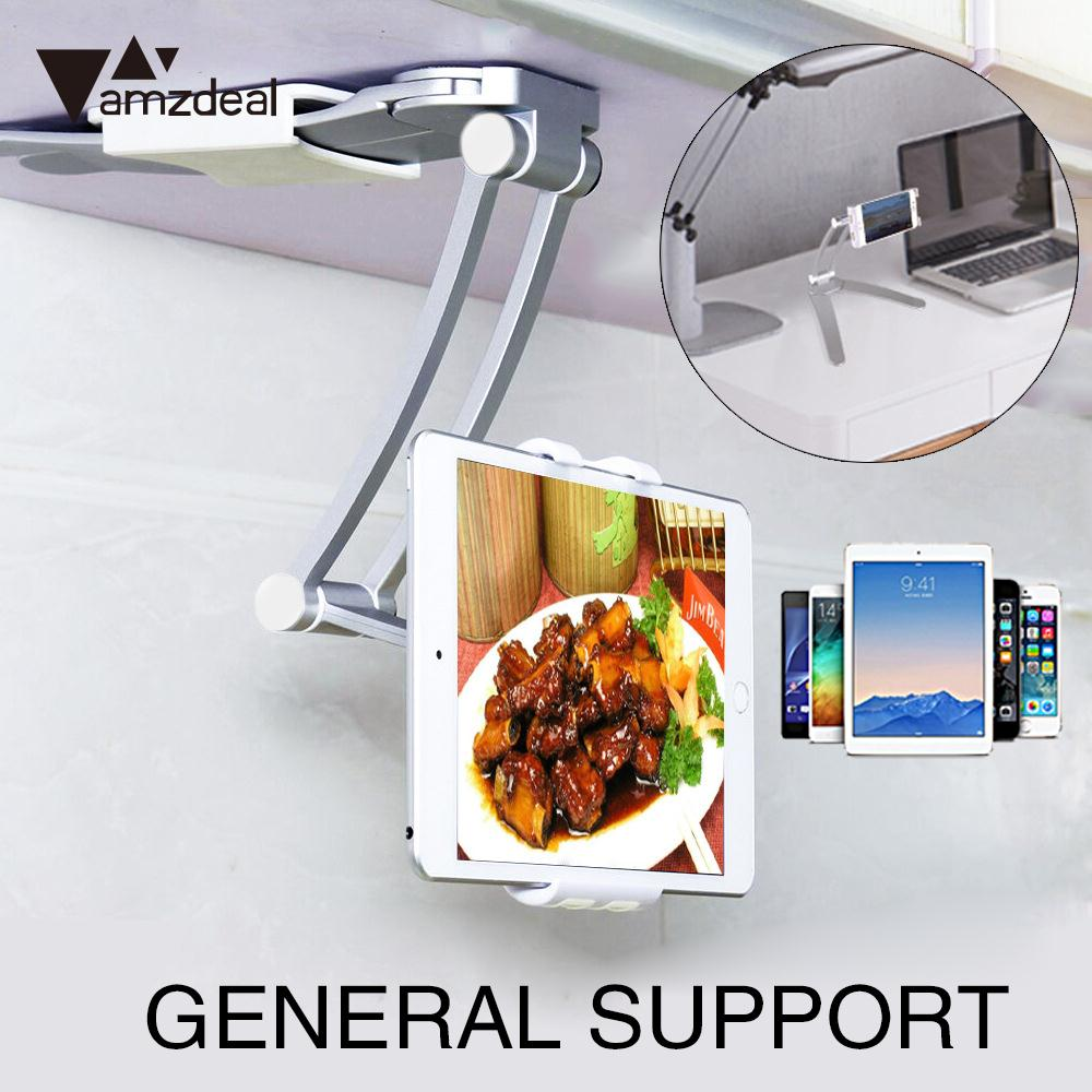 Universal Cell Phone Stand Smartphone 2 in 1 Kitchen Tablet Holder Accessories Electroplating Mobile Phone Holder Supplies