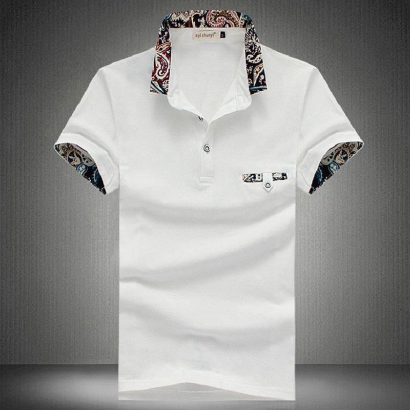 1c6a8d64 Brand New Floral Collar Men POLO Shirts Summer Style Short Sleeve Shirts  Camisas Polo mens polos tops Plus Size 5XL-in Polo from Men's Clothing ...