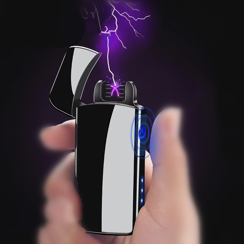 2018 Arc Lighter Electronic USB Recharge Cigarette Smoking Electric gift Lighter for boyfriend gift