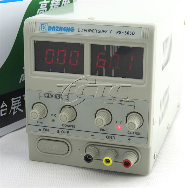 PS-605D Digital Adjustable Linear DC Power Supply 0 ~ 60V, 0 ~ 5A Current Limit Protection Circuit Protection cps 6011 60v 11a digital adjustable dc power supply laboratory power supply cps6011