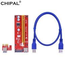 CHIPAL VER007S scheda Riser PCI-E 007 007S PCI Express 1X a 16X Extender 60CM cavo USB 3.0 alimentazione SATA per BTC BTC ETH EOS