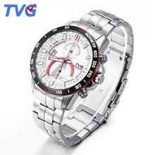 Mens Watches Top Brand Luxury TVG Brand Men Business Casual Watch Stainless Steel Strap Quartz Watch Fashion Sports Wristwatches