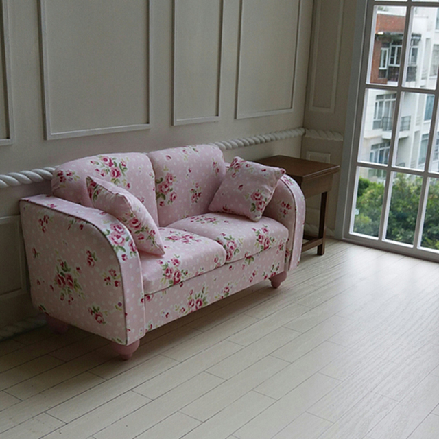 Exceptionnel 1pcs 1/6 Miniature Double Sofa For Dolls Dollhouse Furniture Toy Kawaii  Mini Sofa Model