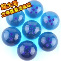 10 sets/lot Dragon Ball Toys crystal balls blue ball 7cm figure set of 7pcs Goku Doll