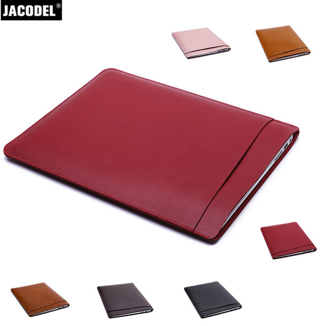Jacodel Pu Leather Laptop Protective Case for Macbook 12 Air 11 13 Pro 13 15 Laptop Sleeve Case Bag for Macbook Accessories Bags