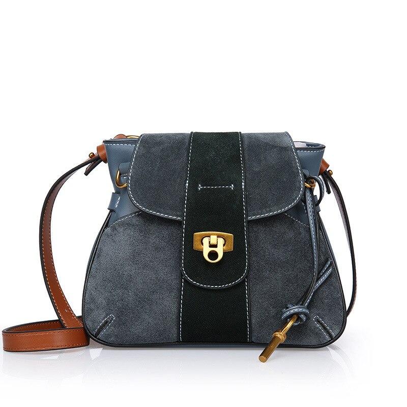 Schulter Echtem Luxus Leder Sattel Gray brown Berühmte Tasche 2018 Marken Aus Feminina Taschen Designer Bolsos blue Mujer red Frauen Handtasche XFSUKqwrvF