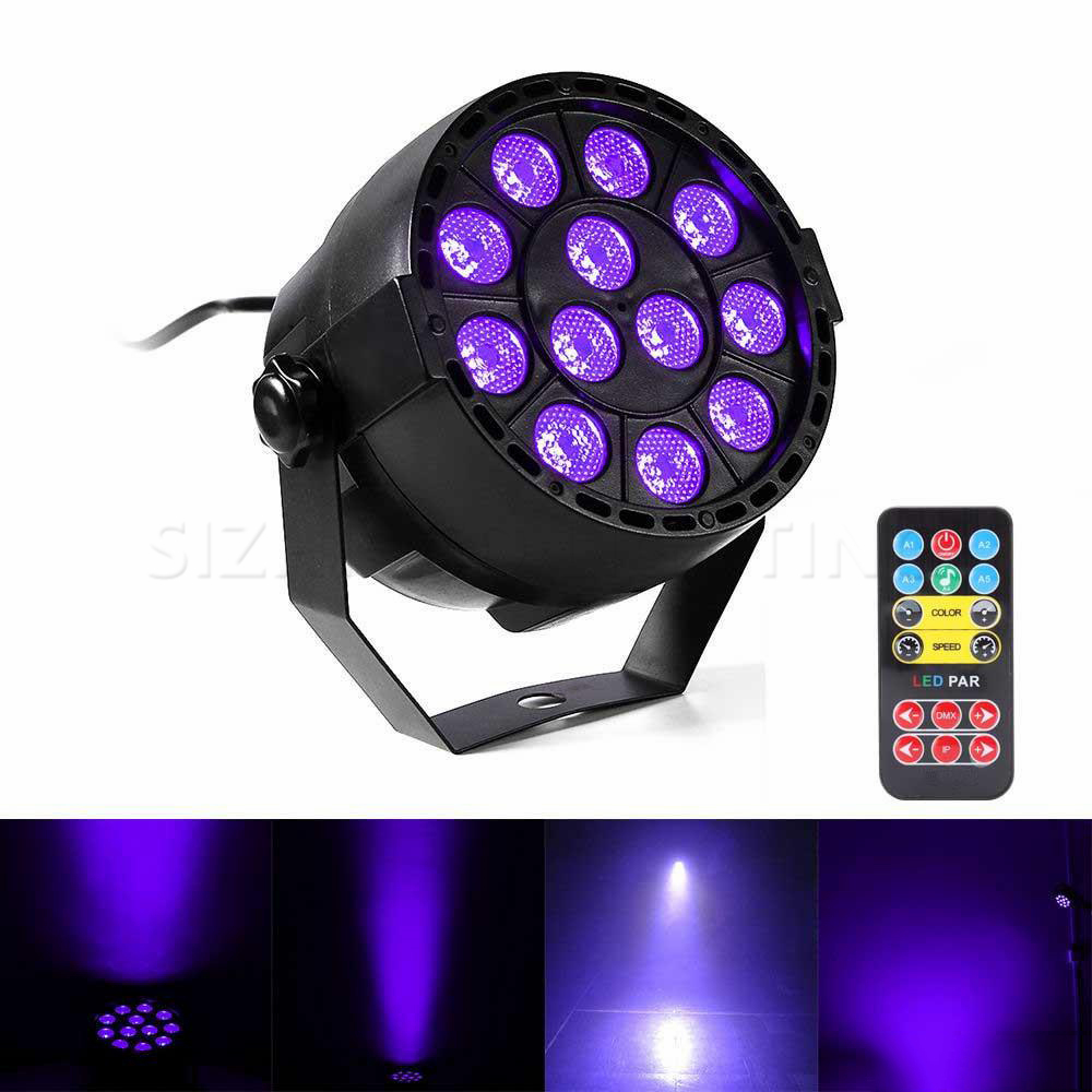 Auto Sound Active DMX512 Master-slave 36W UV LED Stage Light Ultraviolet Black Light Par Light Spotlight Lamp For Disco DJ Club