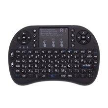Hebräisch Tastatur Original Rii i8 + Backlit 2,4 GHz Mini Drahtlose Tastatur mit TouchPad für Android TV Box/Mini PC/Laptop