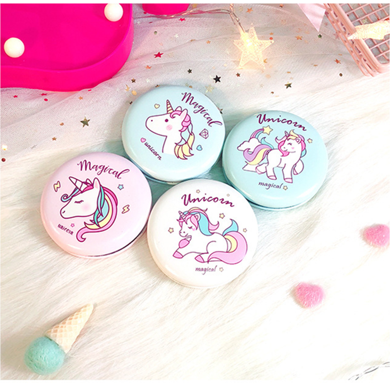 Wedding Gifts for Guests Souvenirs Unicorn Beauty Hamburger Double-sided Mirror Bridesmaid Gift Birthday Unicorn Party Favors