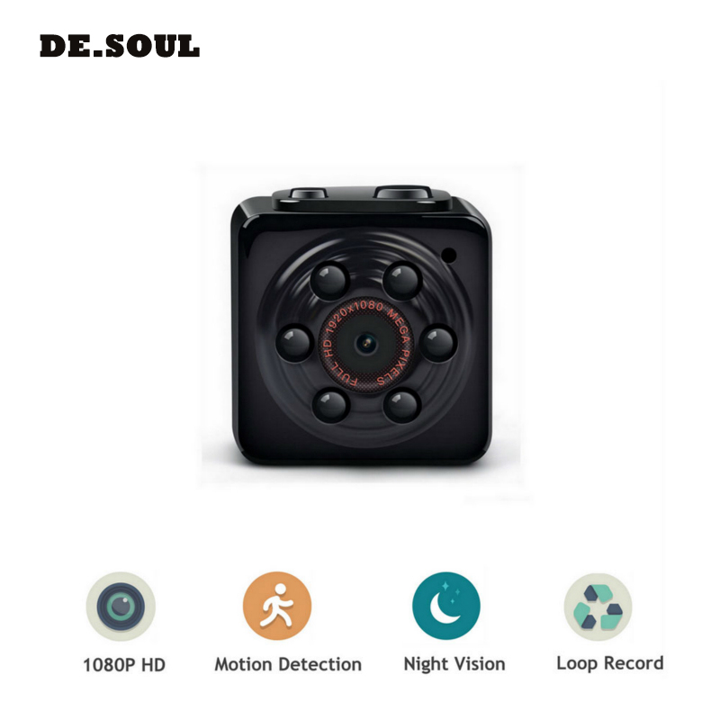 PARASOLANT Mini Camera 1080P Portable Tiny Video Recorder Cam with Night Vision dash camera Indoor/Outdoor Use <font><b>Car</b></font> Recorder image