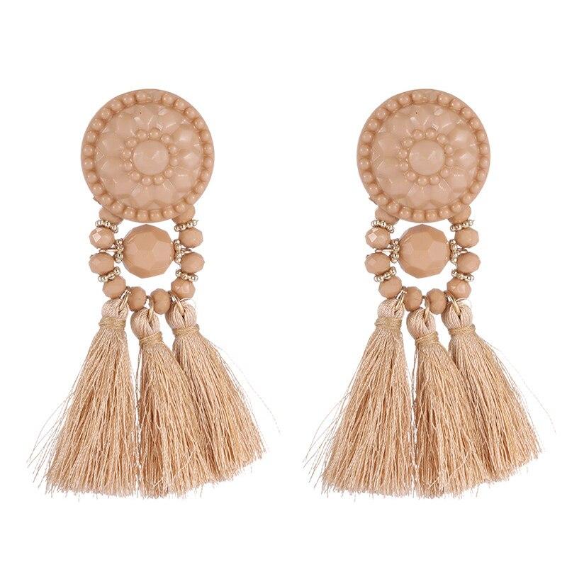 Bohemian Big Long Tassel Dangle Earrings for Women Girl Female Fashion Ethnic Large Fringe Drop Earring 2019 Jewelry in Drop Earrings from Jewelry Accessories